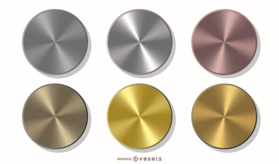 Packung mit metallischen Münzen
