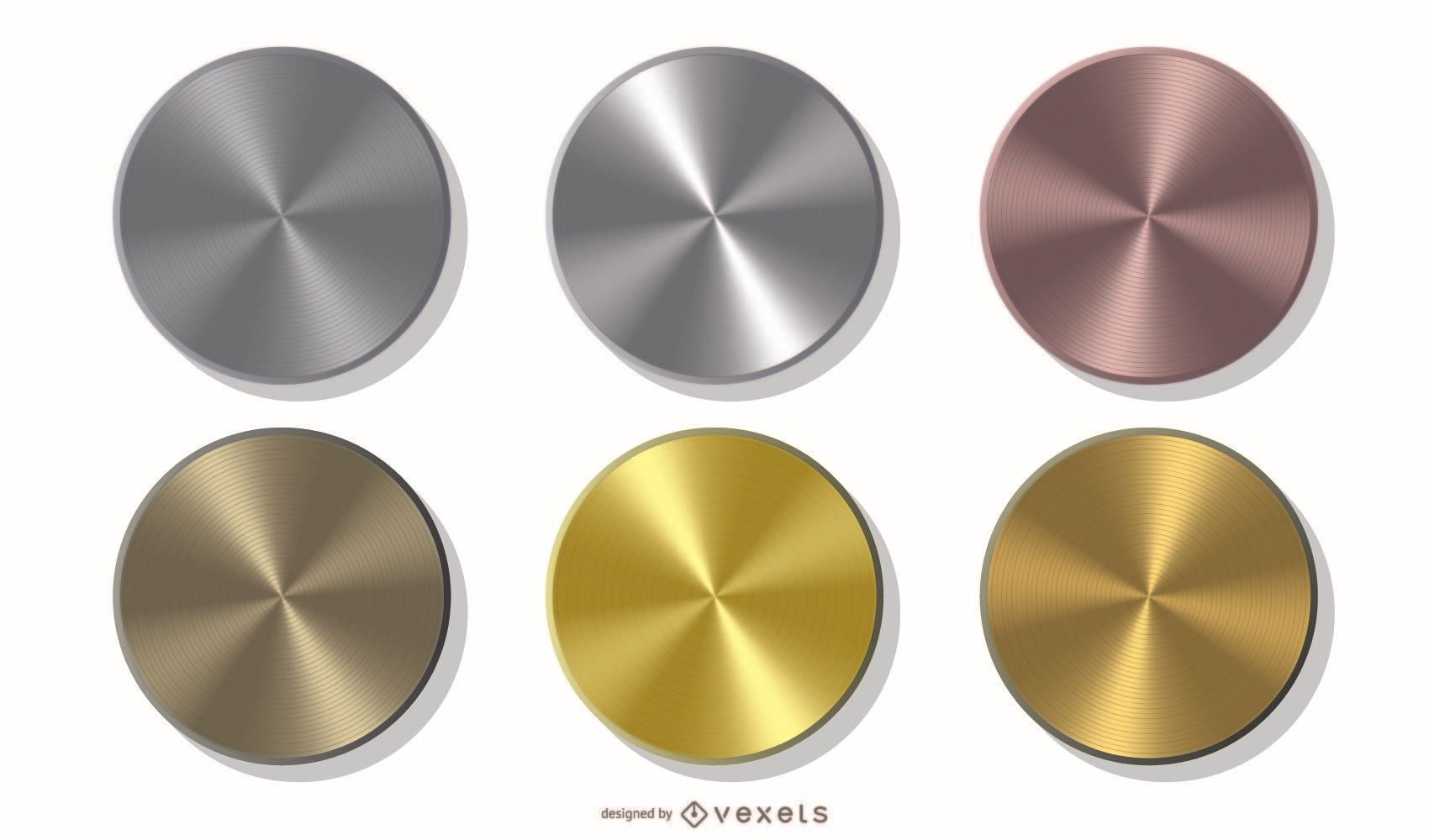 Pack of metallic coins