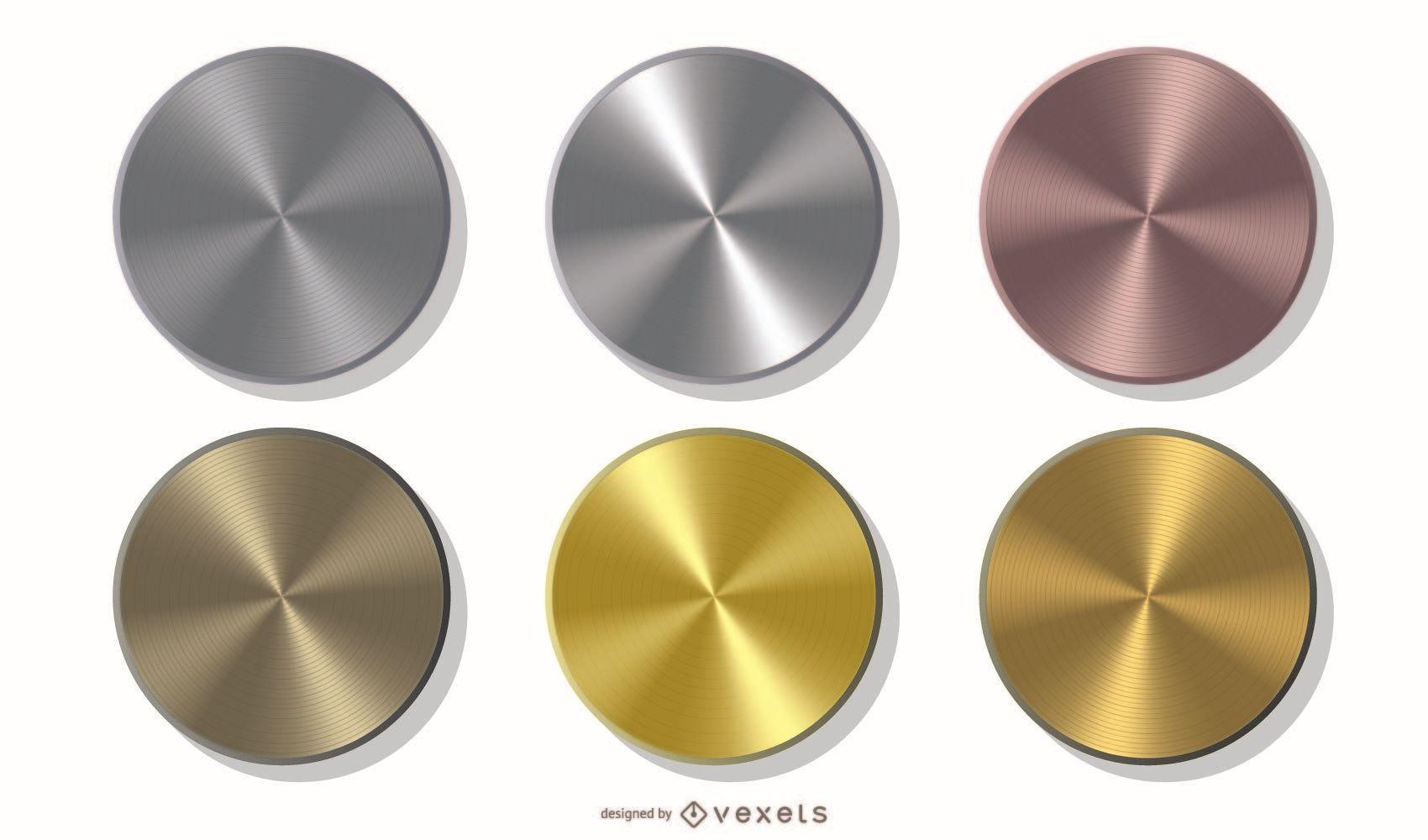 Pacote de moedas metálicas