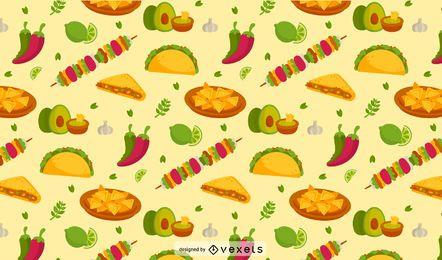 Patrón de comida mexicana