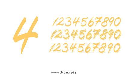 Handgefertigte Zahlen