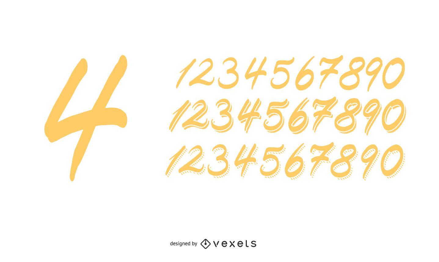 Números hechos a mano