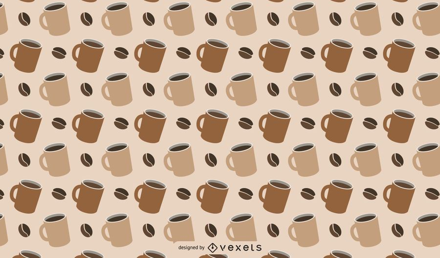 Padrão temático de café