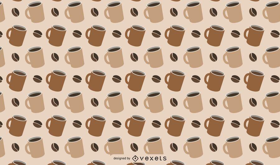 Patrón de café temático
