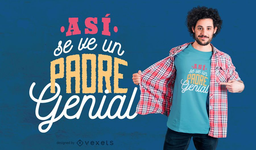 Projeto espanhol do t-shirt do dia dos pais