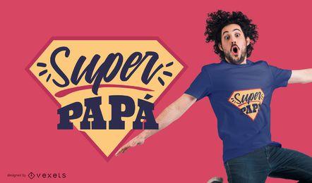 Projeto super do t-shirt da papá