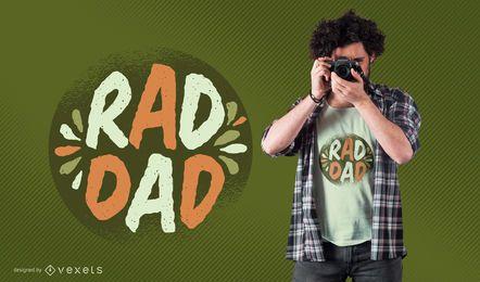 Diseño de camiseta Rad Dad