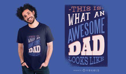 Ehrfürchtiger Vati-T-Shirt Entwurf