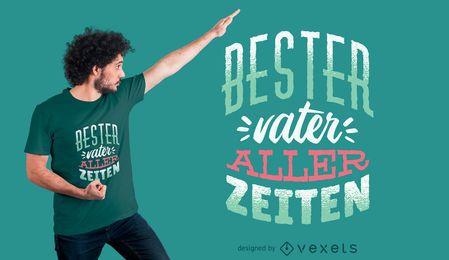 Melhor design alemão do t-shirt do pai