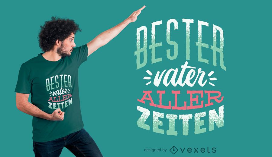 German Best Father T-shirt Design