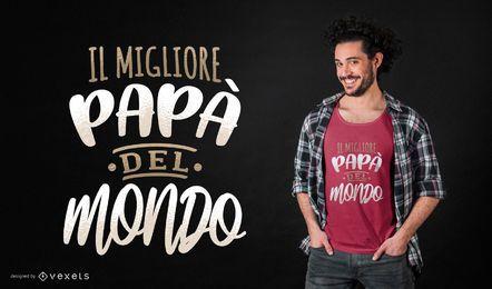 Italienischer bester Vater T-Shirt Design