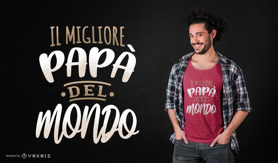 Melhor design italiano do t-shirt do pai