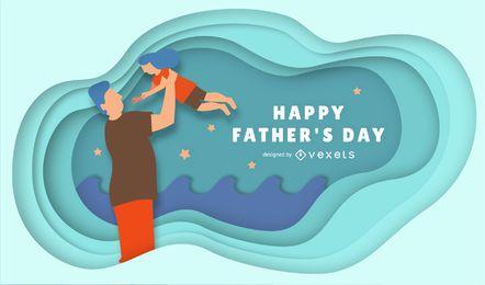 Glücklicher Vatertags-Entwurf