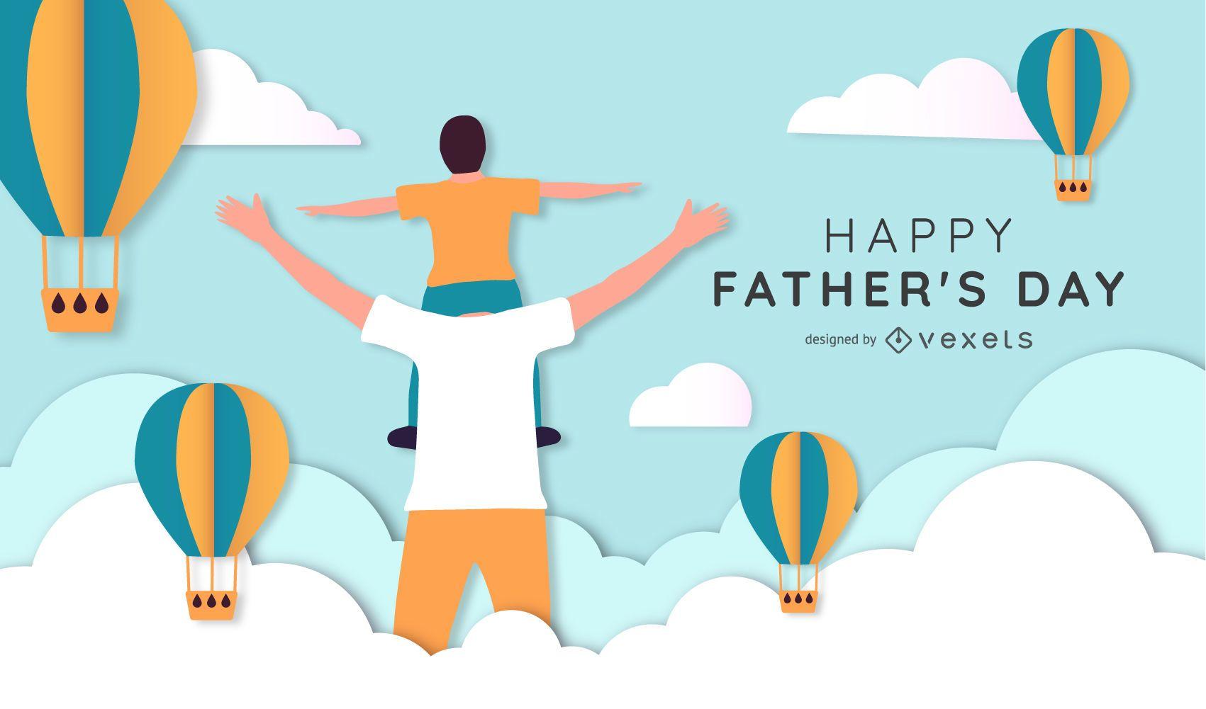 Fathers Day Illustration Design