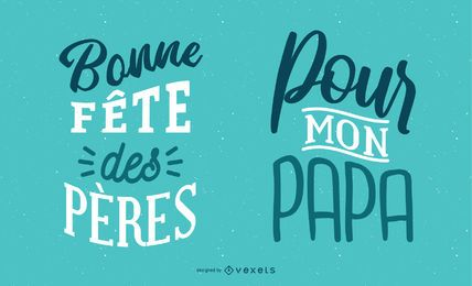 Father's Day French Lettering