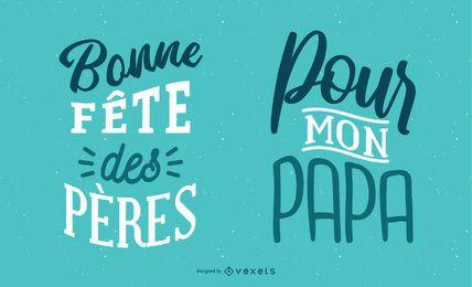 Vatertags-französische Beschriftung