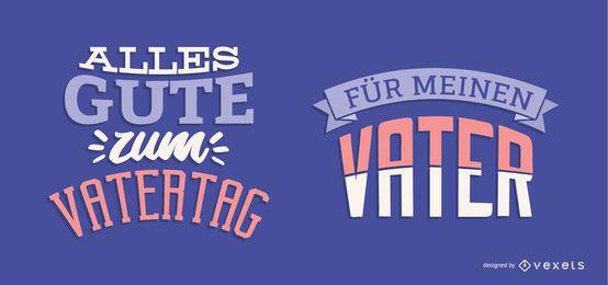 Design de letras alemãs do dia dos pais