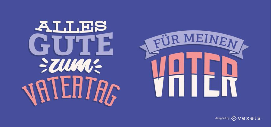 Father's Day German Lettering Design