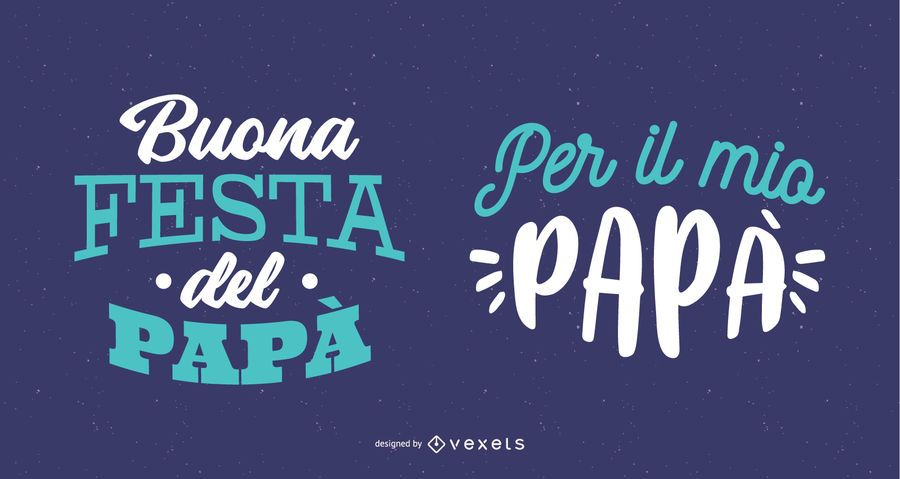 Diseño de letras italiano del día del padre