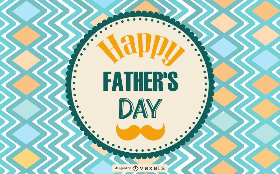 Father's Day Vintage Greeting Card Design