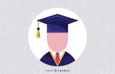 Männliche graduierte Vektor-Design