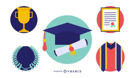 Graduation Elements Vector Set