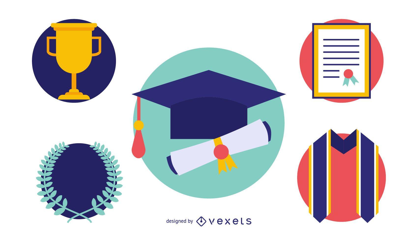 Graduation Elements Vector Set