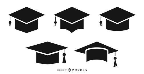 Gorro de graduación y conjunto de borla