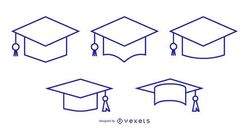 Graduation Cap and Tassel Stroke Icon