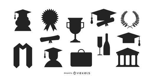 Conjunto de silueta de graduación