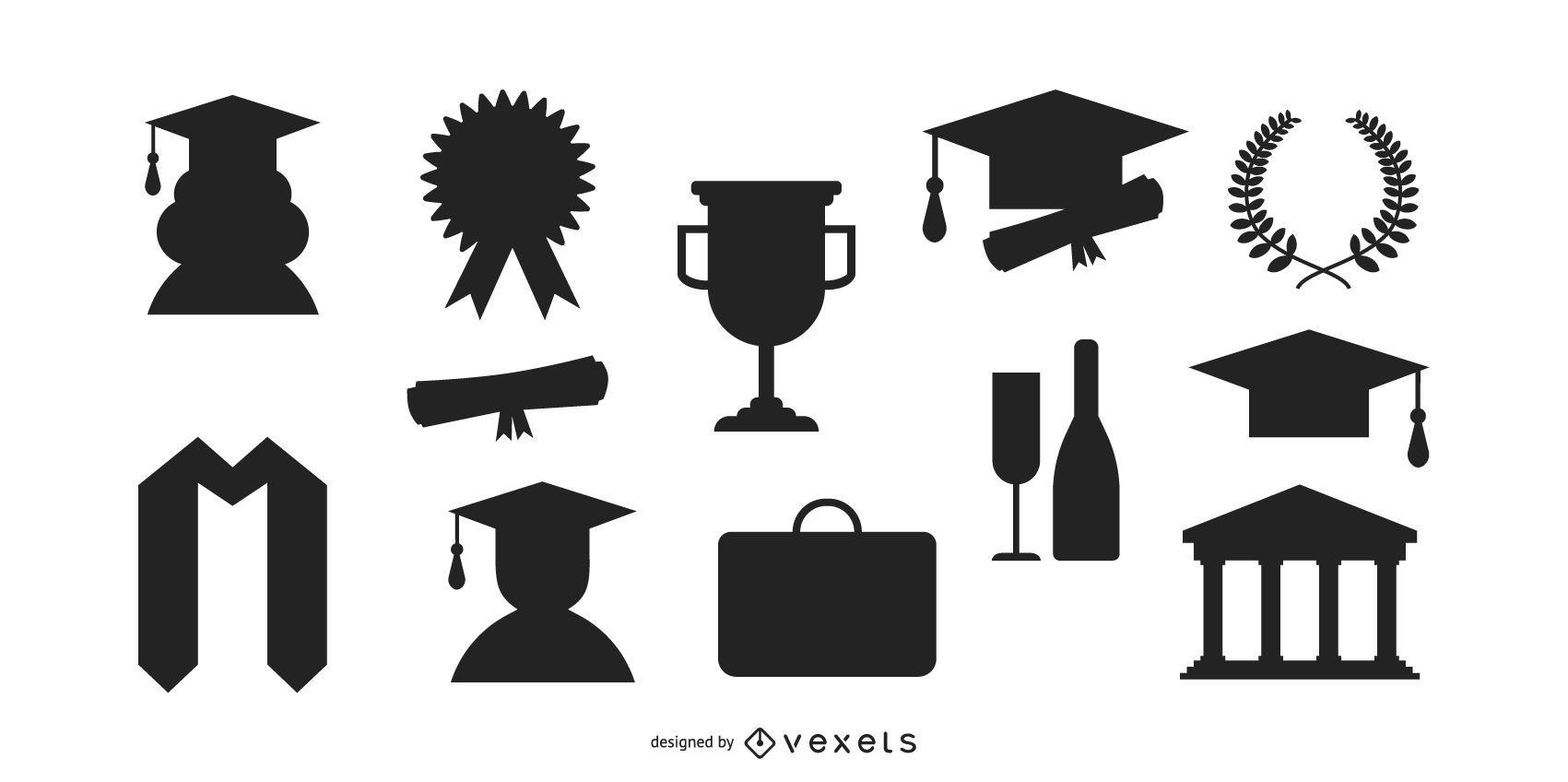 Graduation Silhouette Set