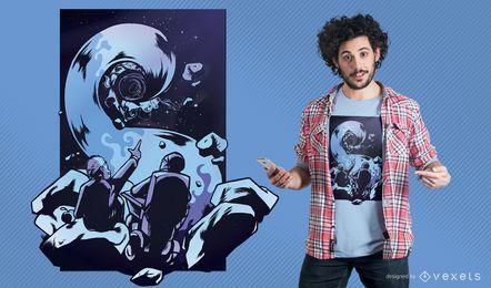 Projeto do t-shirt de BlackHole