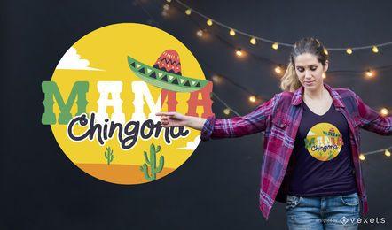 Diseño de camiseta de mamá mexicana