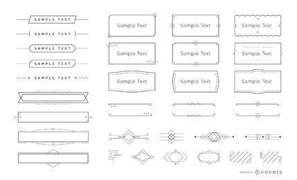 Paquete de adornos minimalistas