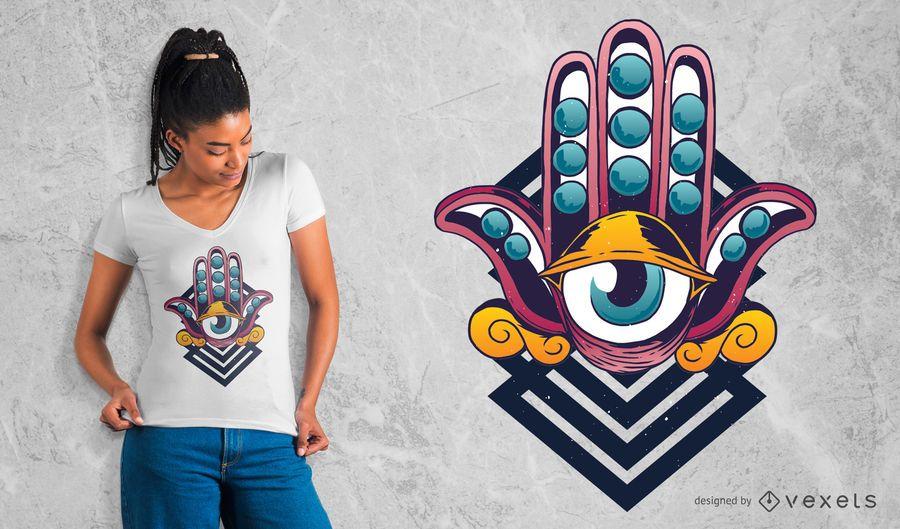 Diseño de camiseta de tercer ojo