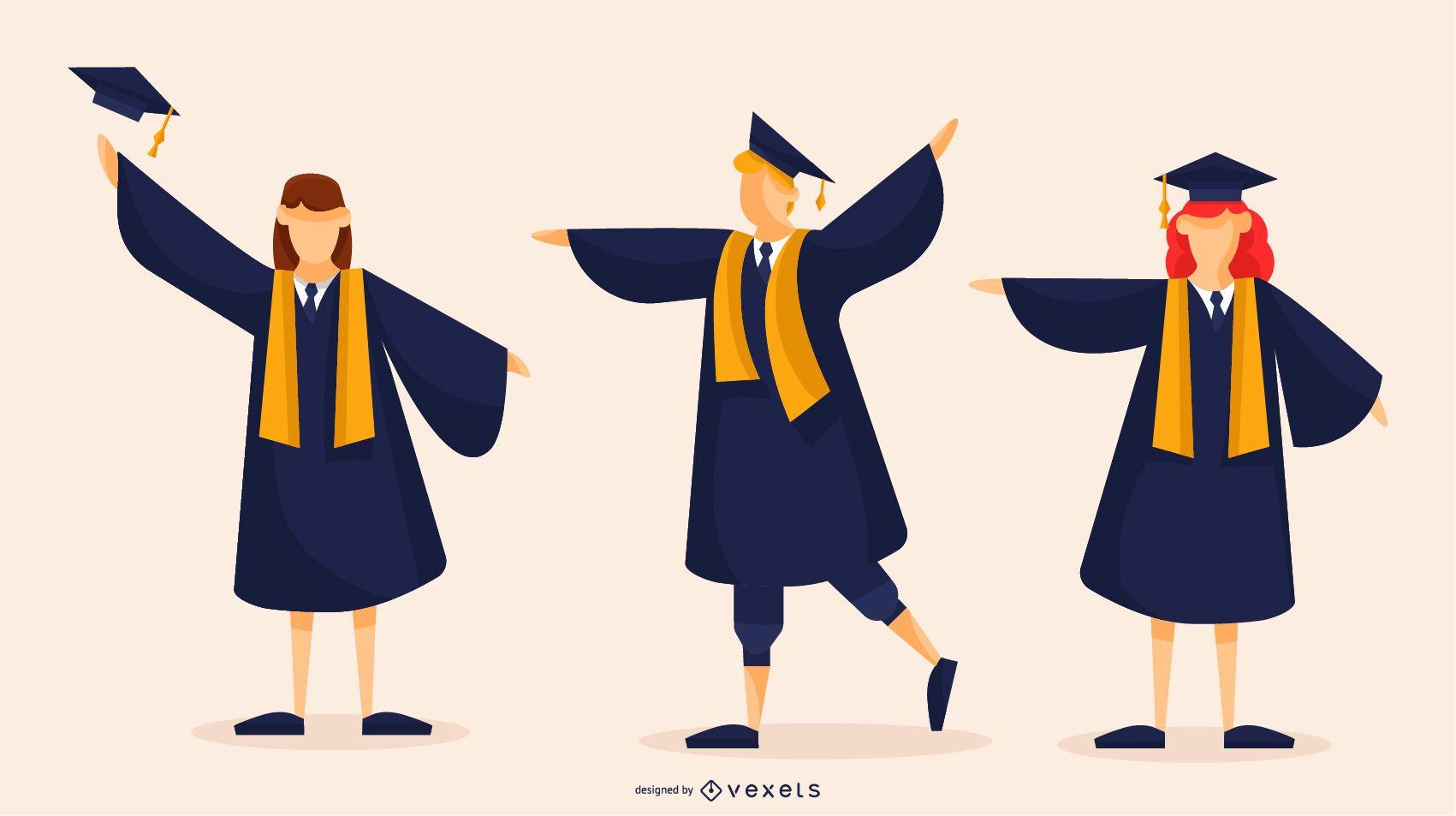 Diseño vectorial de graduados
