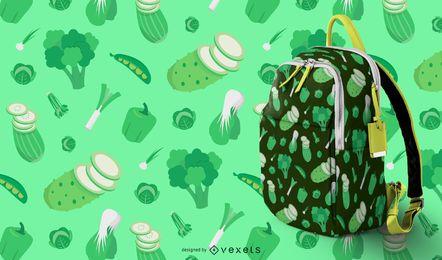 Patrón de vegetales verdes