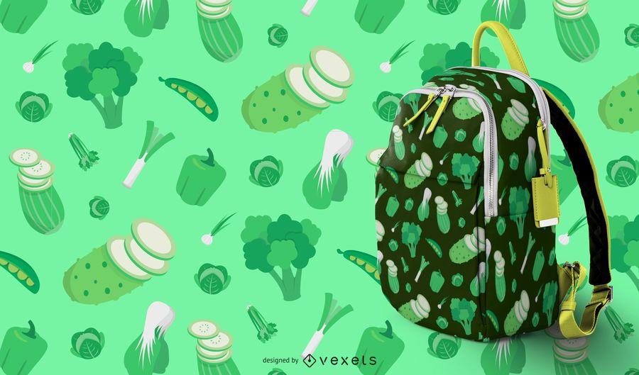 Grünes Gemüse Muster