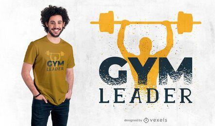 Diseño de camiseta de líder de gimnasio