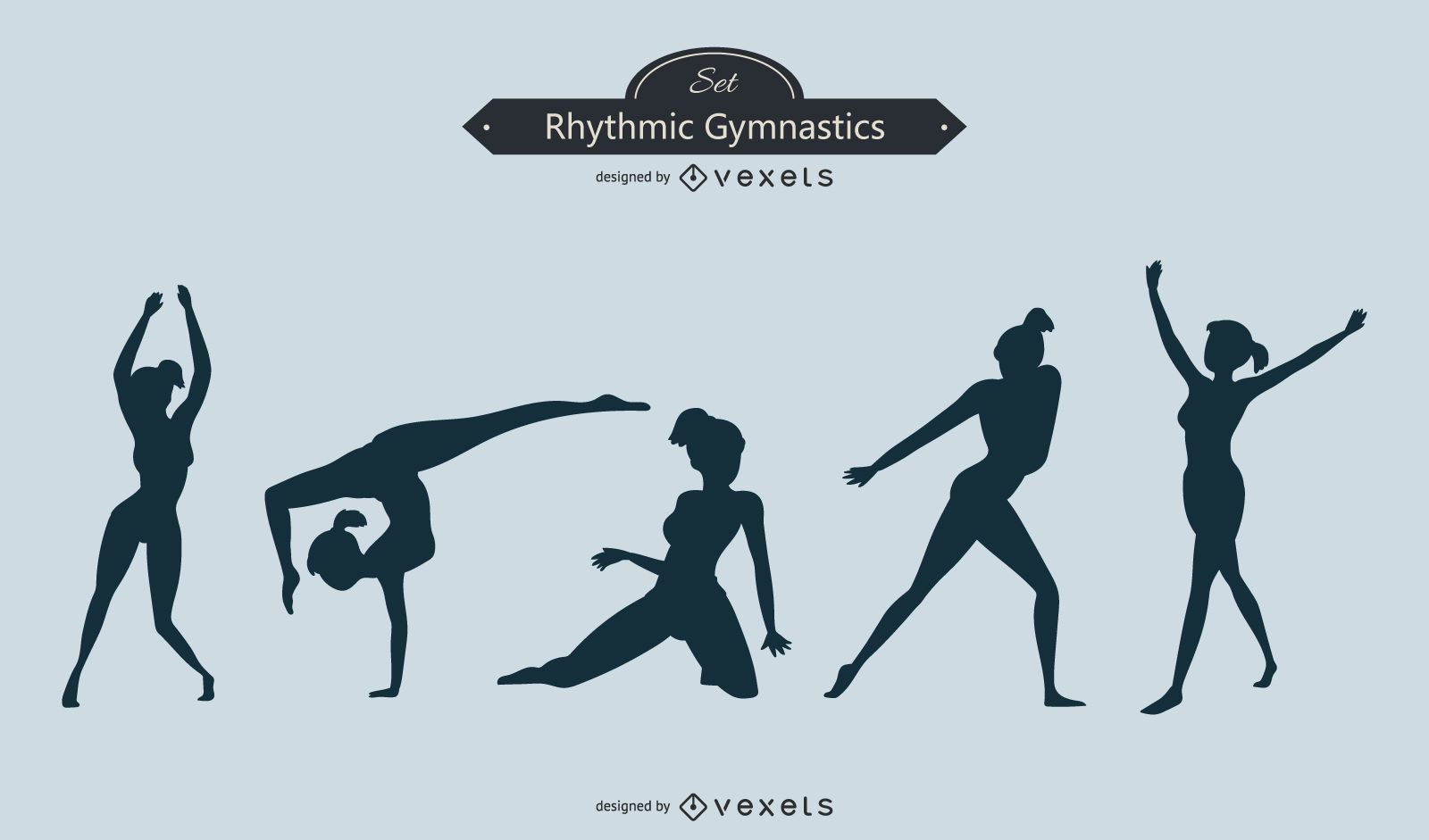 Gymnastics Silhouette Set