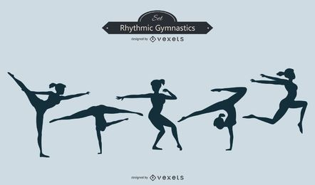Rhythmic Gymnastics Silhouette Design