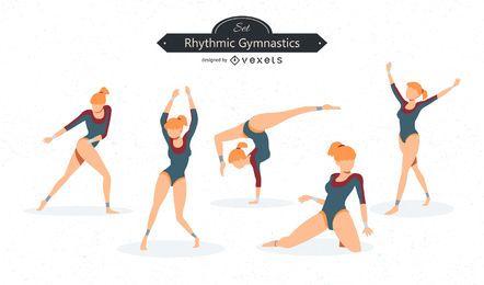 Gymnastics Vector Set