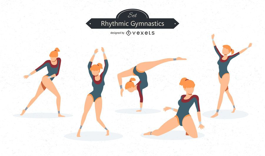 Gymnastics Vector Set