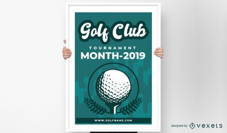 Diseño del cartel del club de golf