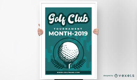 Golfclub-Plakat-Design