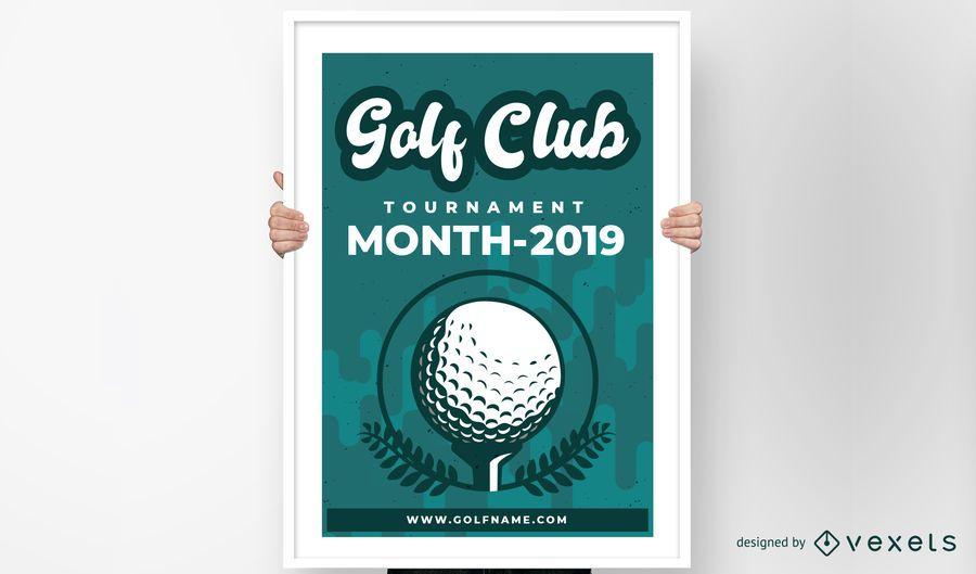 Design de cartaz de clube de golfe