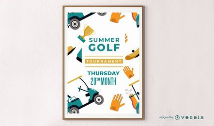 Design de cartaz de golfe