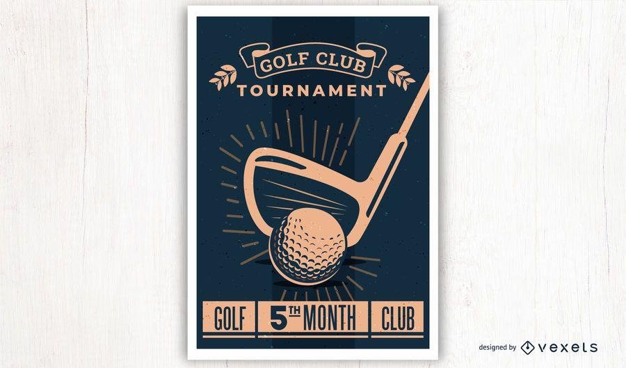 Vintage Style Golf Poster Design