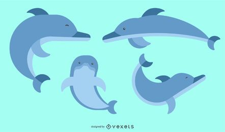 Rounded Geometric Dolphin Design