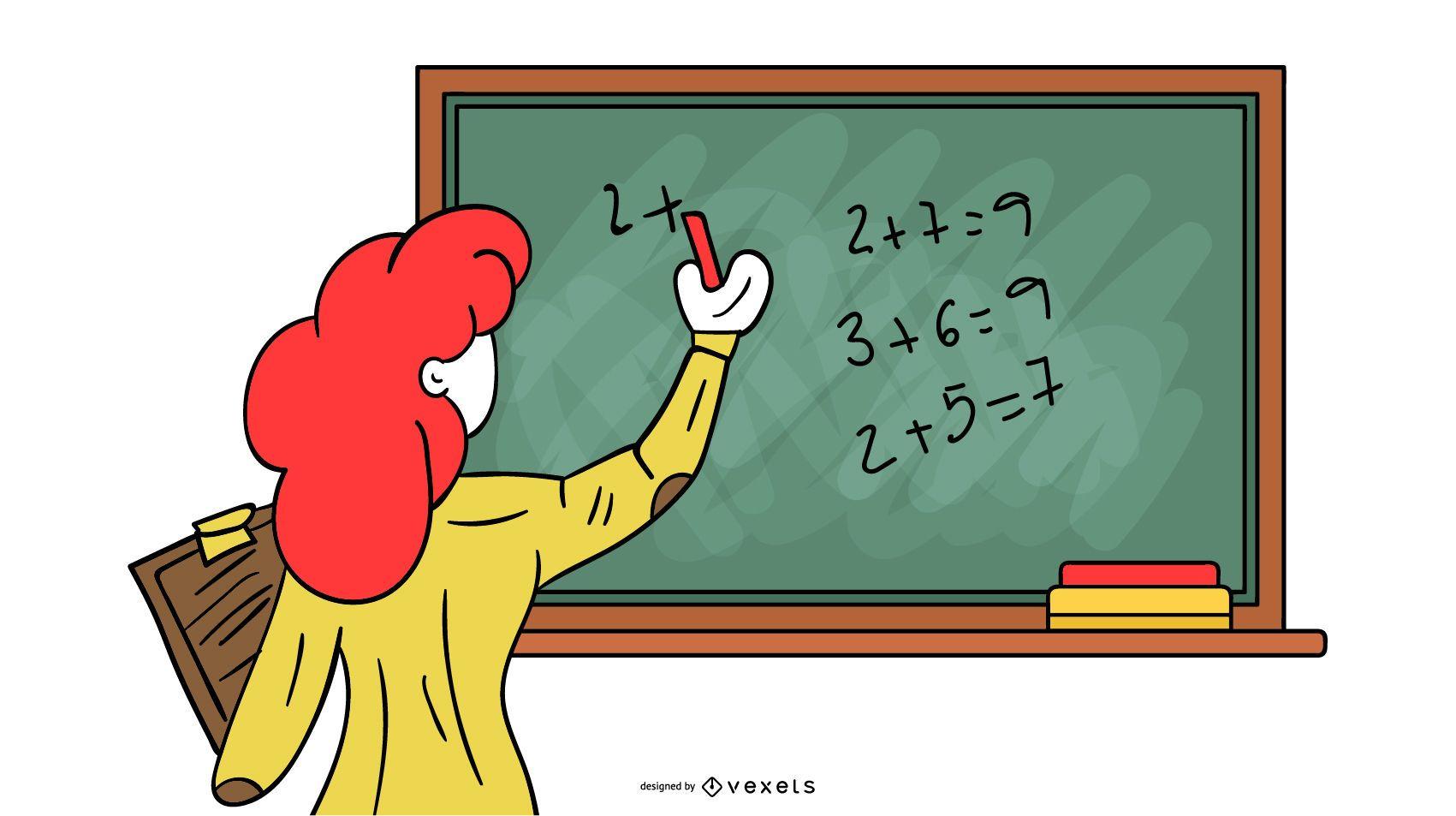 Ilustración del profesor de matemáticas